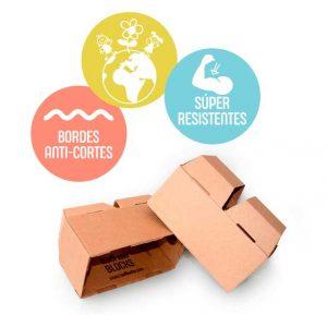 Bloques de cartón seguros y resistentes